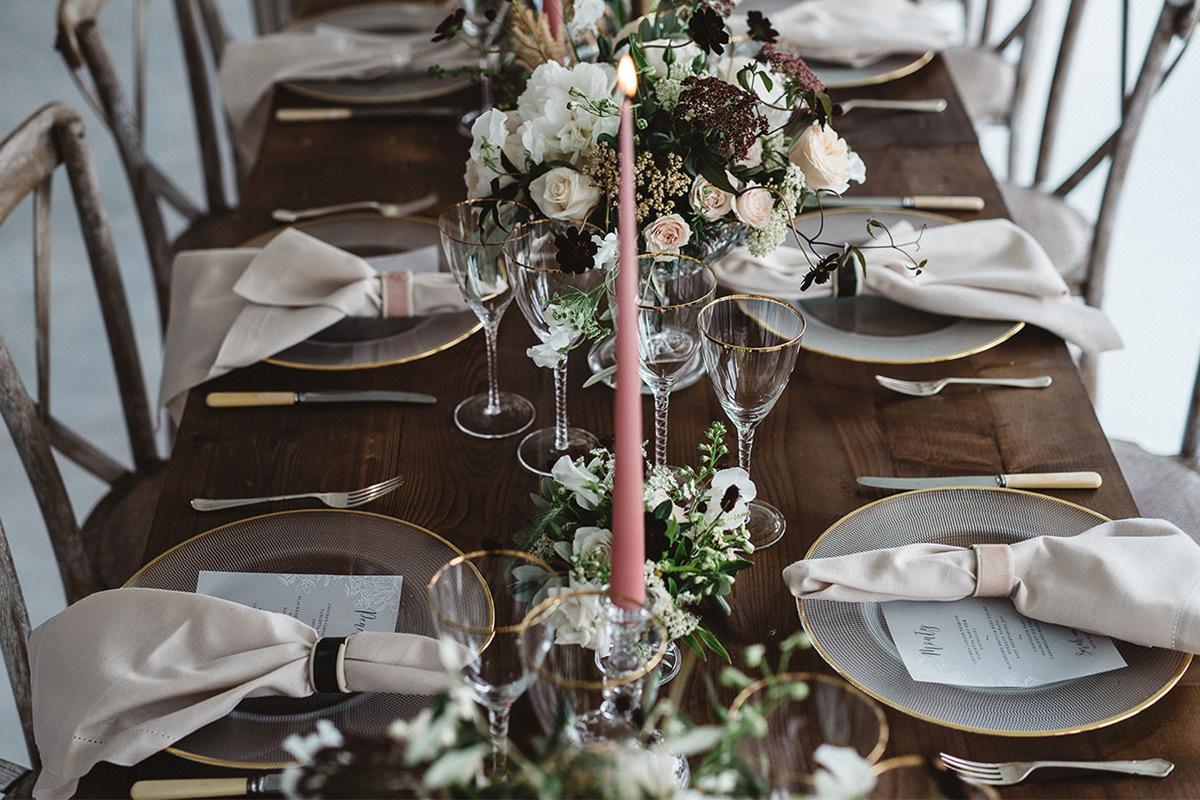Alrewas Hayes table setting