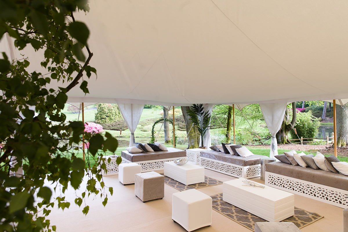 Arabian Tents' Moroccan-inspired sofas - Under Canvas