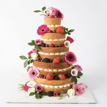 Wedding cake with fresh fruit - Colour Pop Cakes