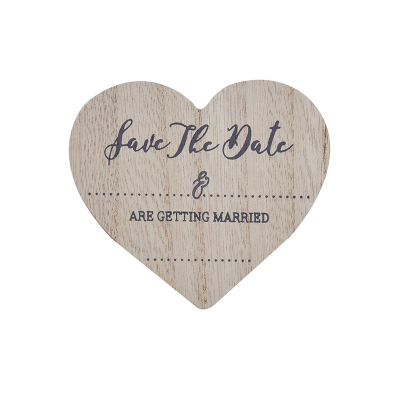 It's a date - Wooden save the date magnets