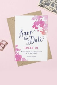 It's a date - Pink Blossom save the date card