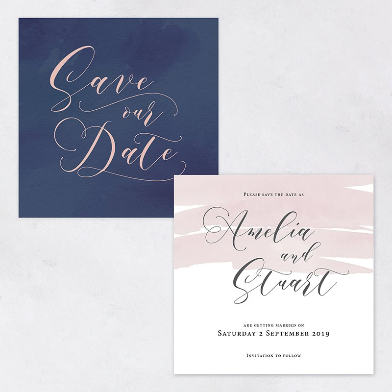 It's a date - Amelia Collection save the date cards