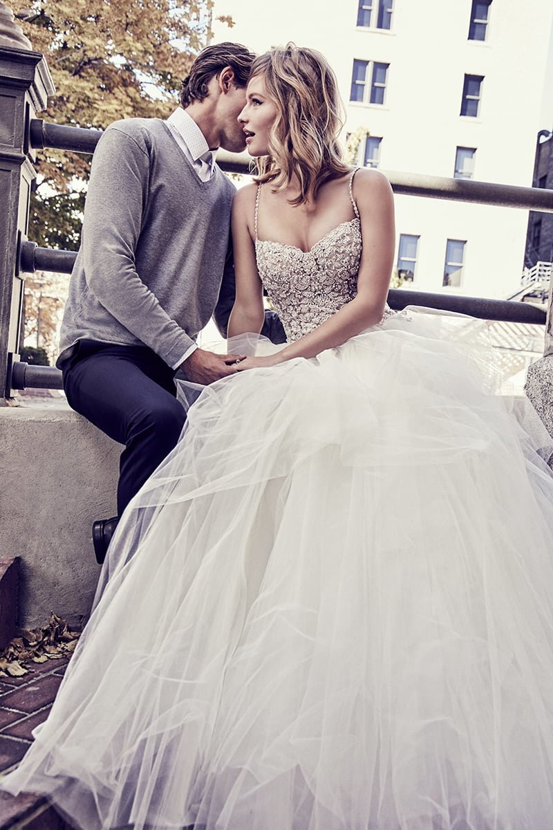 glamorous wedding dresses Shauna princess dress with Swarovski-crystal beaded bodice and full tulle skirt, £poa, Maggie Sottero