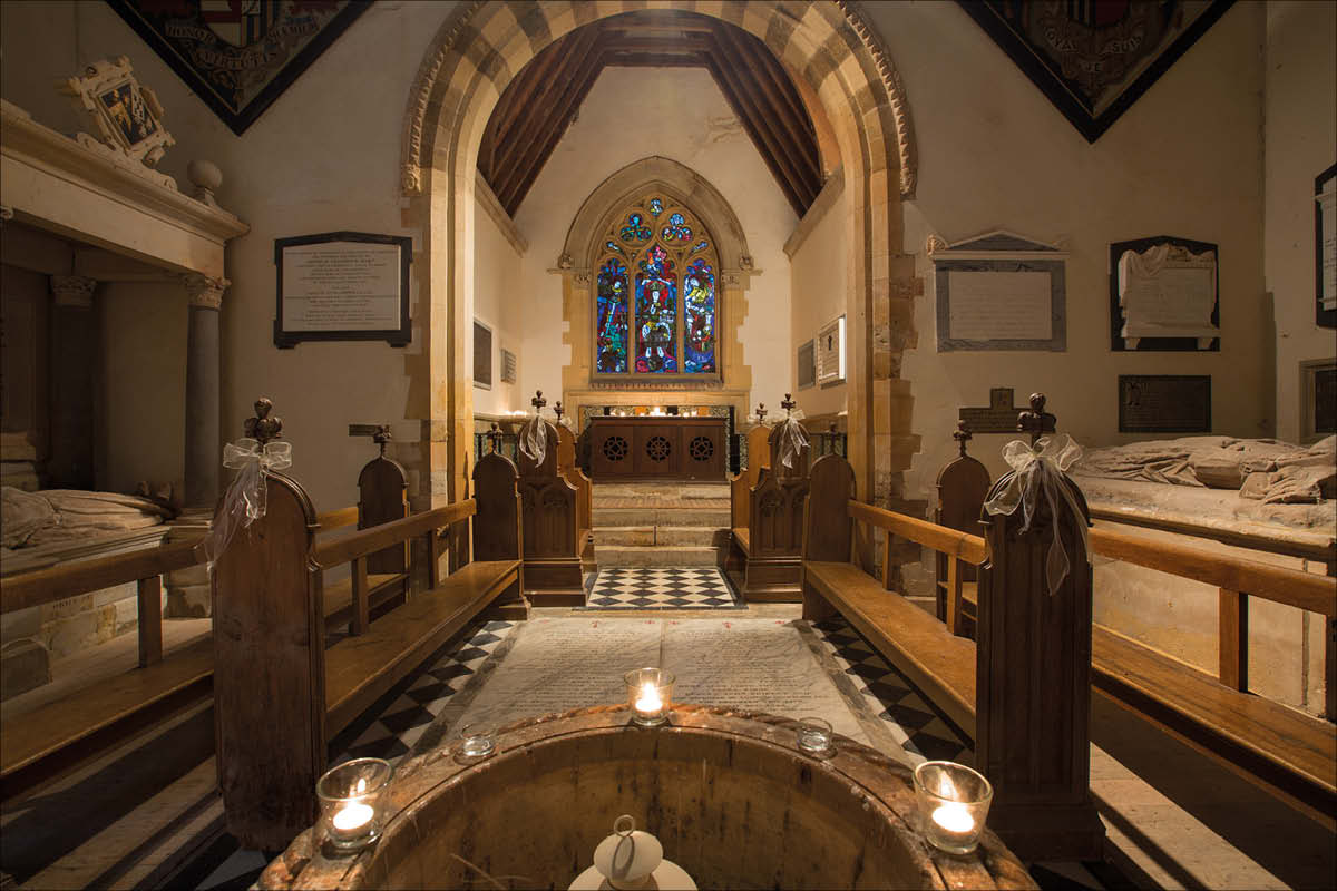 Ettington Park Hotel chapel interior