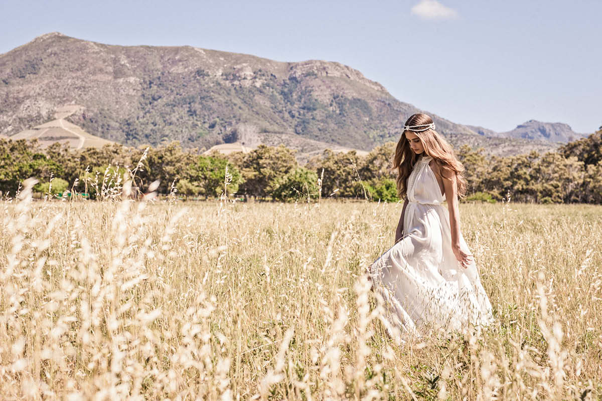 Boho wedding dresses Bo & Luca Capri gown