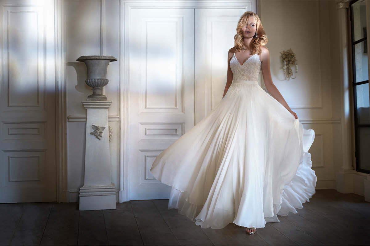 light wedding dress