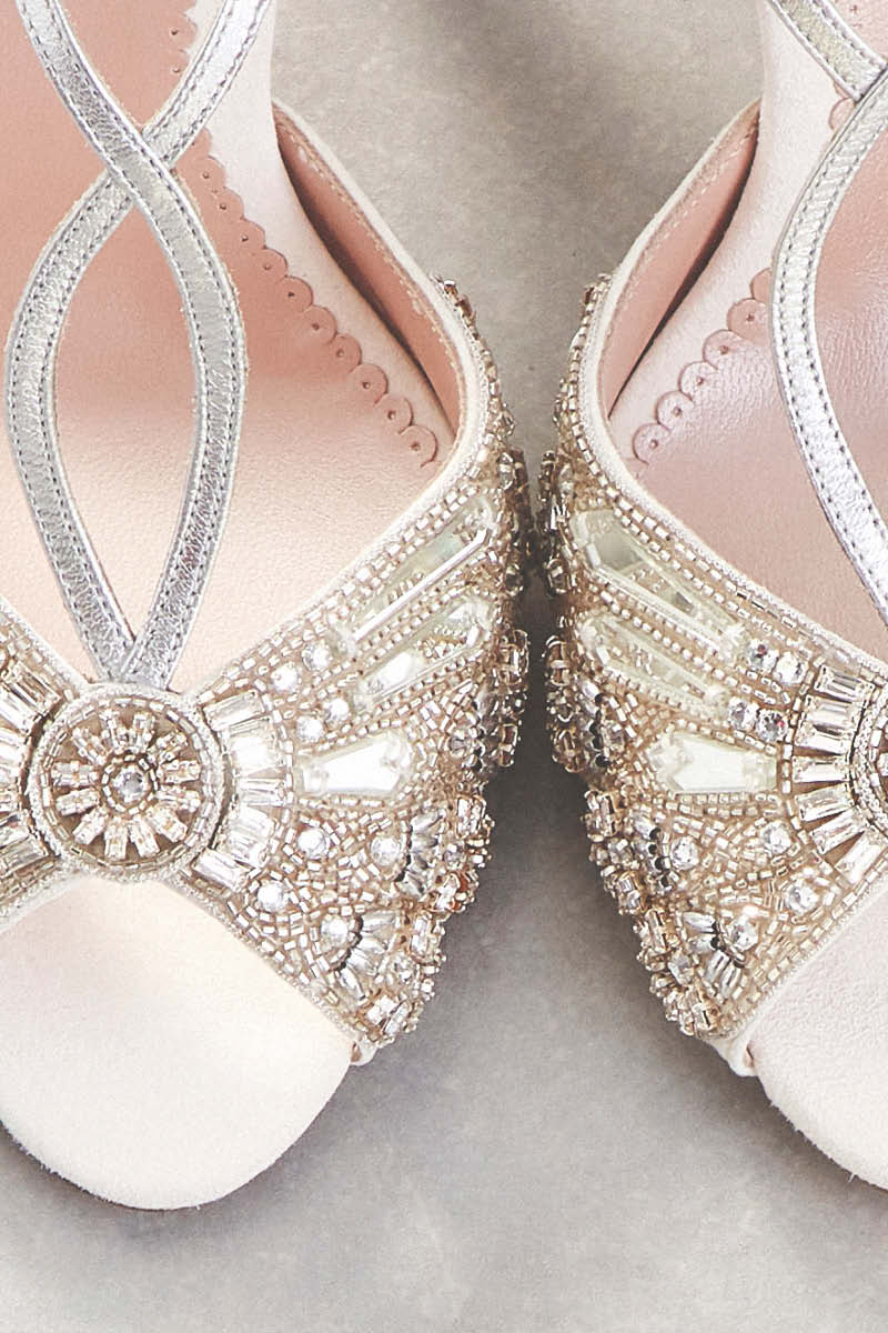 light wedding dresses - bridal shoes