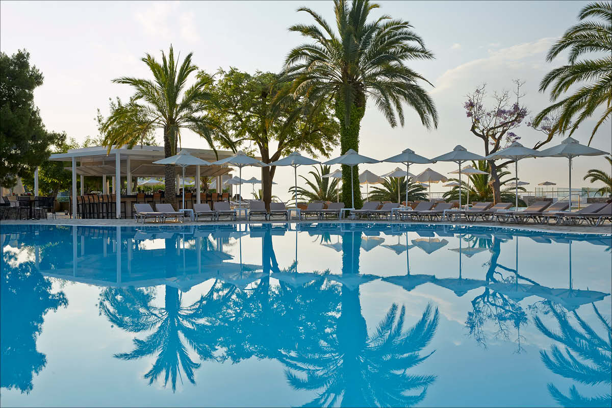 MarBella Corfu pool - Honeymoon with a View