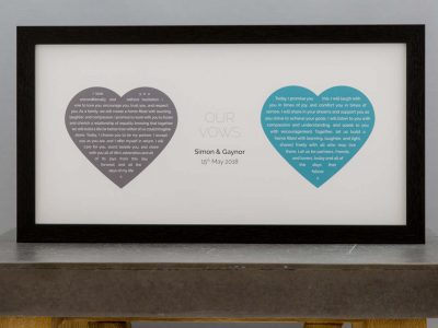 Wedding vow keepsakes Not Just a Print_featured