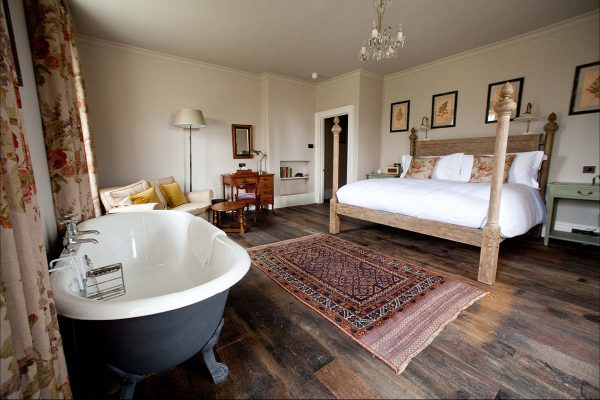first night Romantic honeymoon suites The Pig Bath