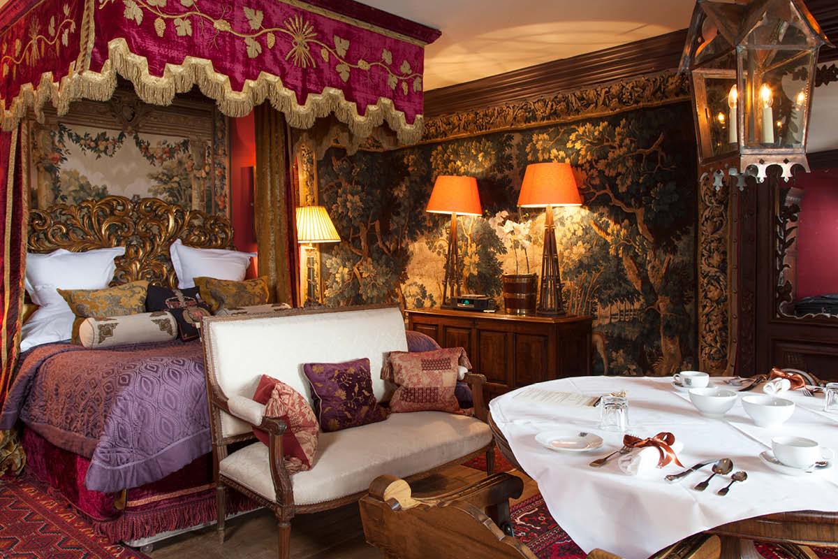 first night Romantic honeymoon suites The Witchery, Edinburgh