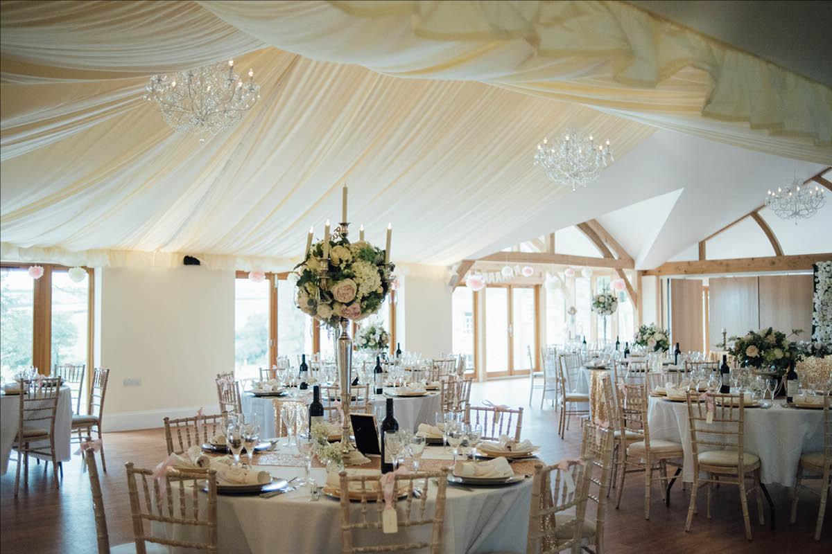 Tredudwell Manor wedding setup