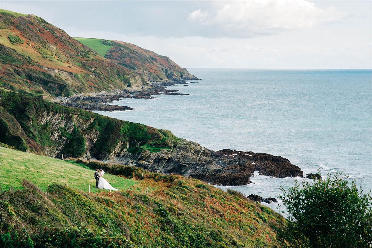 Tredudwell Manor coastal view