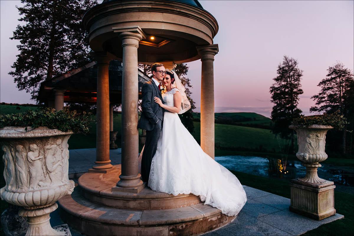 Tredudwell Manor outdoor wedding