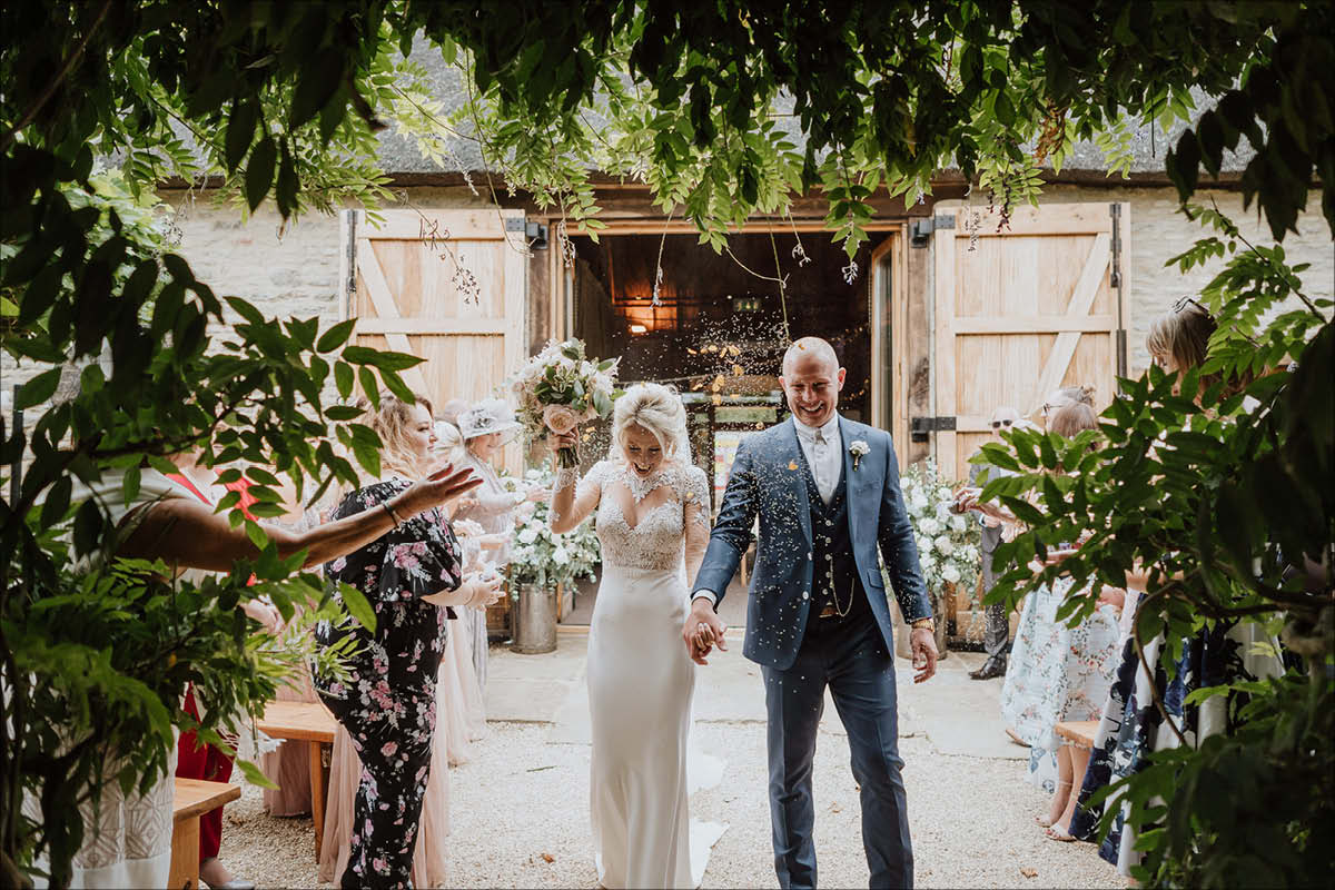 The Tythe Barn wedding