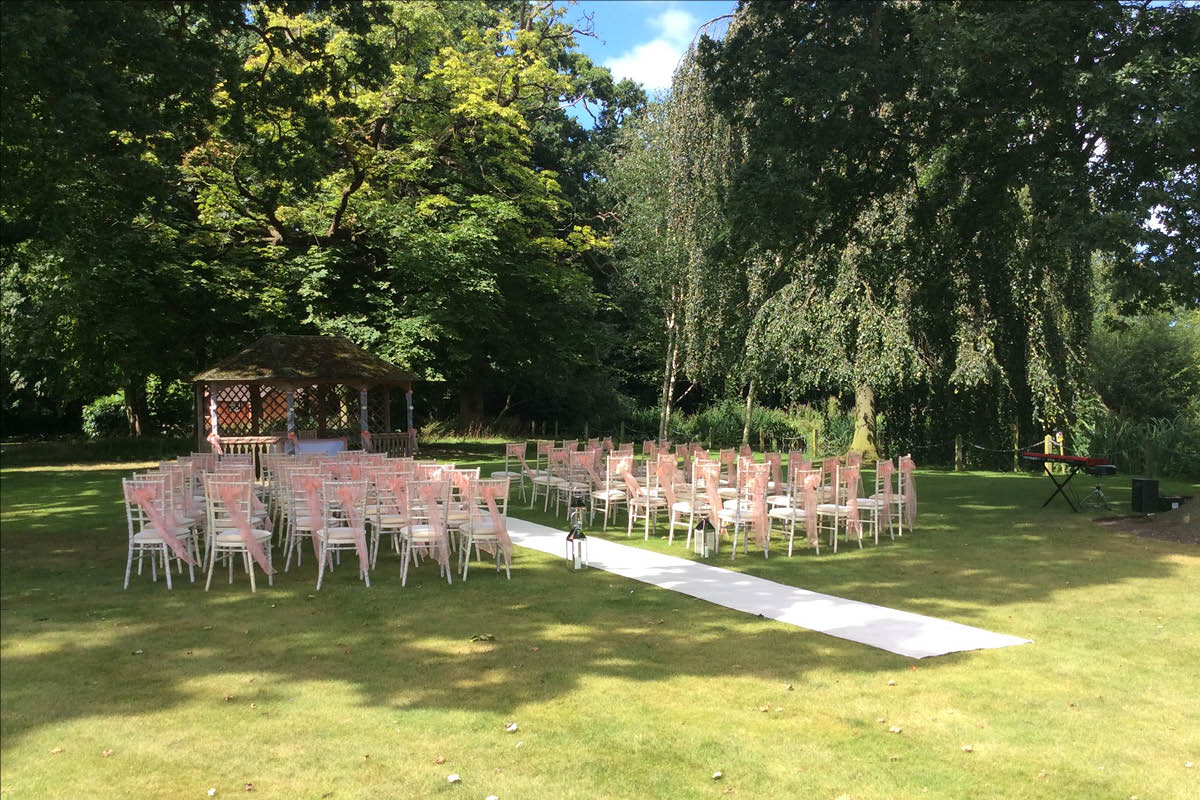 Rookery Hall Hotel outdoor ceremony