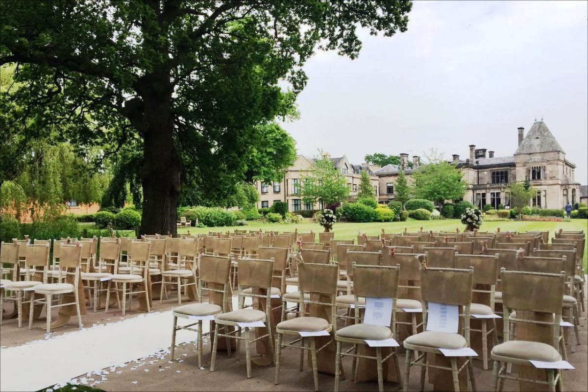 Rookery Hall Hotel outdoor wedding