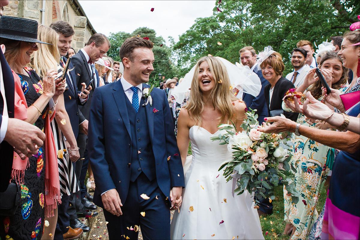 Marquee wedding Georgia and Rob confetti