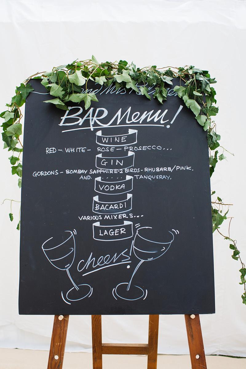 Georgie and Rob blackboard menu