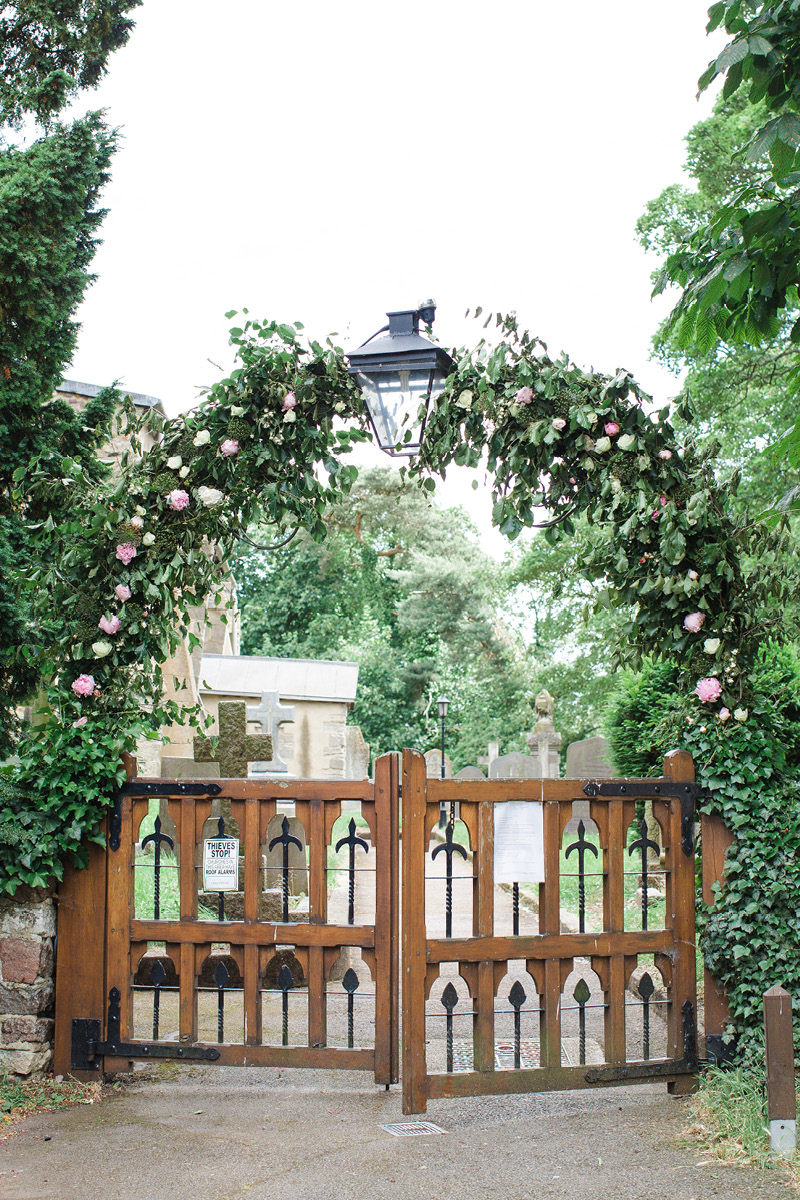 Georgie and Rob floral arch