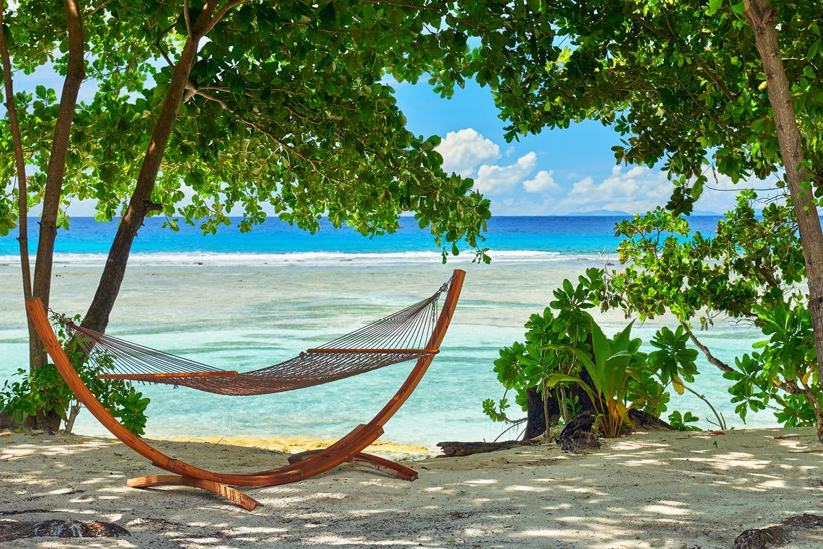 Hilton Seychelles Labriz Beachfront hammock