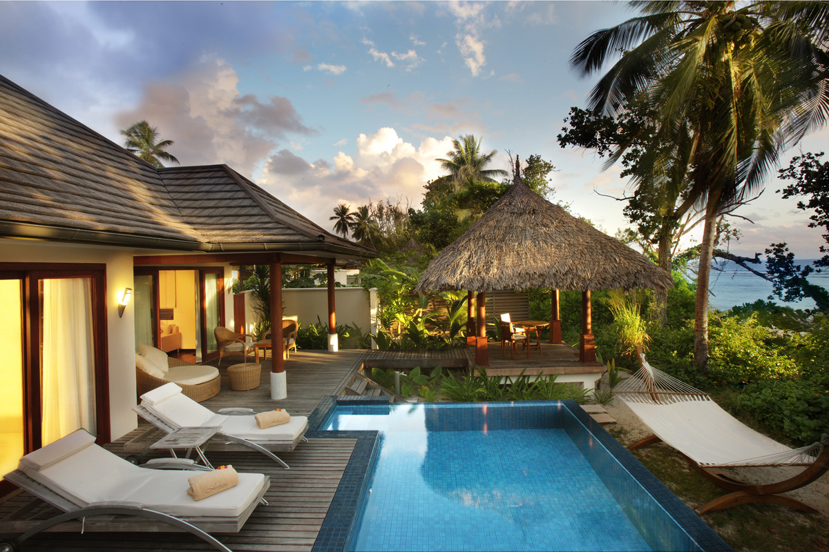 Hilton Seychelles Labriz beachfront villa with pool