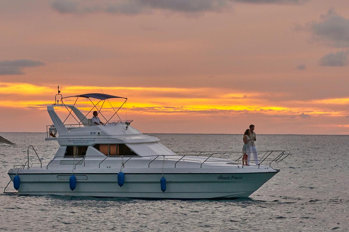 Hilton Seychelles Labriz sunset cruise