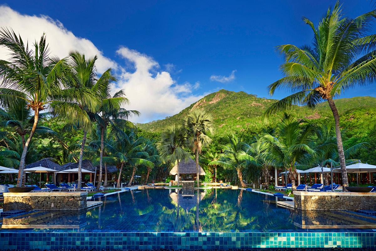 Hilton Seychelles Labriz swimming pool