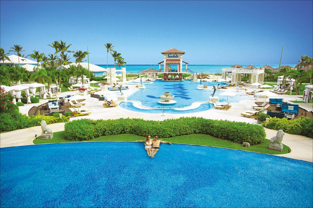 Sandals Emerald Bay Bahamas main pool