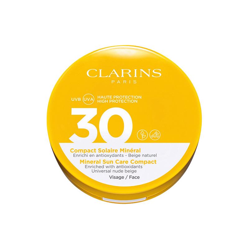 capsule wardrobe Clarins mineral suncare compact