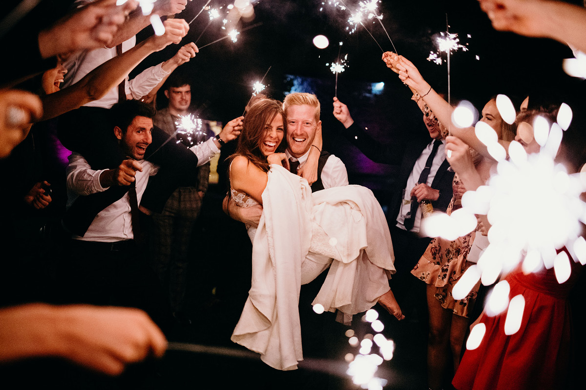 Lula and Luke wedding sparklers