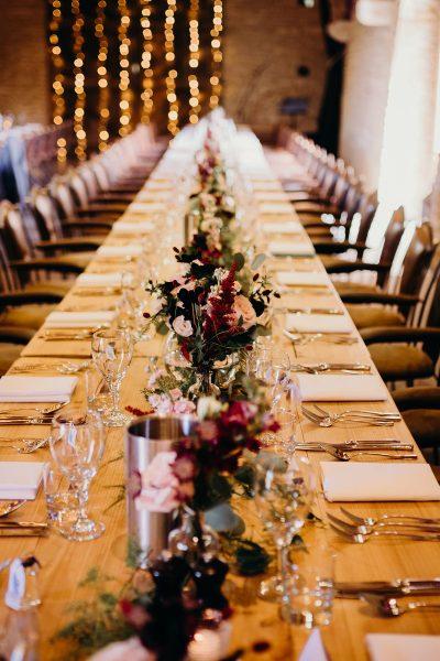 Lula and Luke wedding table setting
