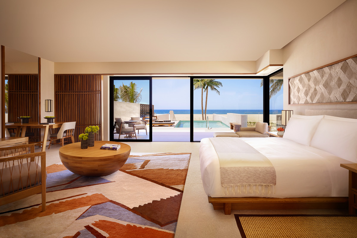 Nobu Hotel Los Cabos Junior Suite Oceanfront King Bedroom