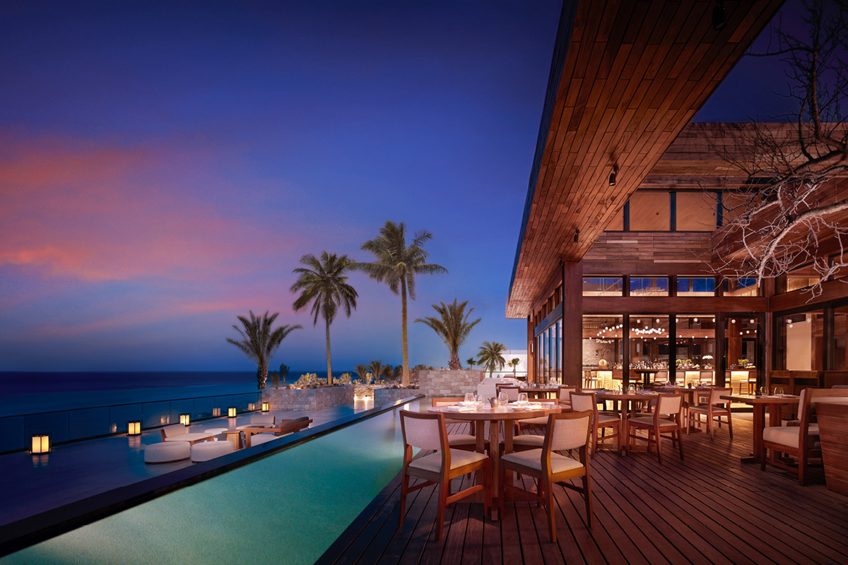 Nobu Hotel Los Cabos restaurant terrace
