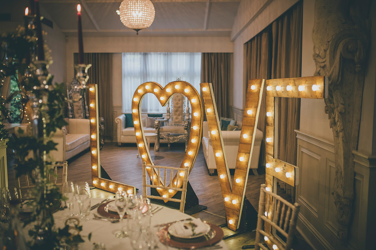 Manor By The Lake light up letters