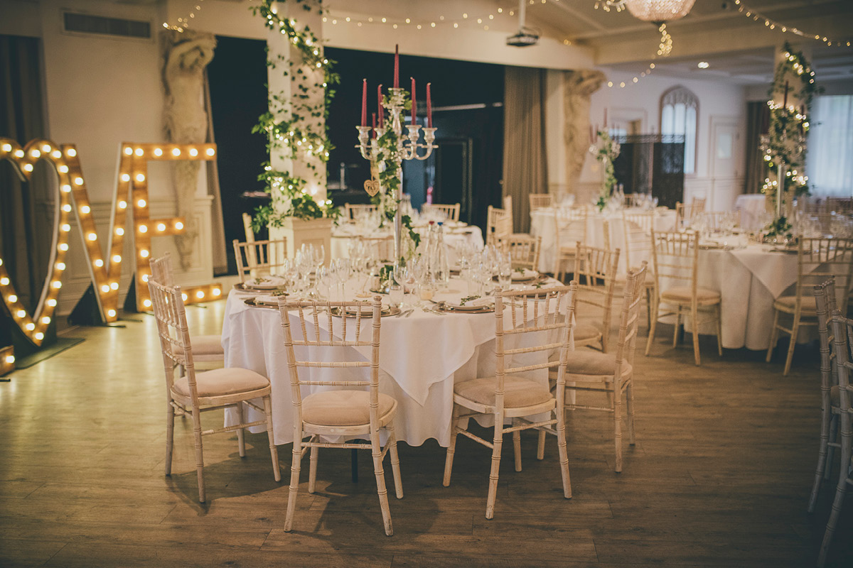 Manor By The Lake wedding setup