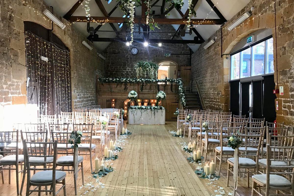 The Barns at Hunsbury Hill Mezzanine ceremony
