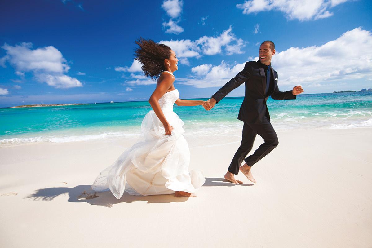 The Bahamas beach wedding
