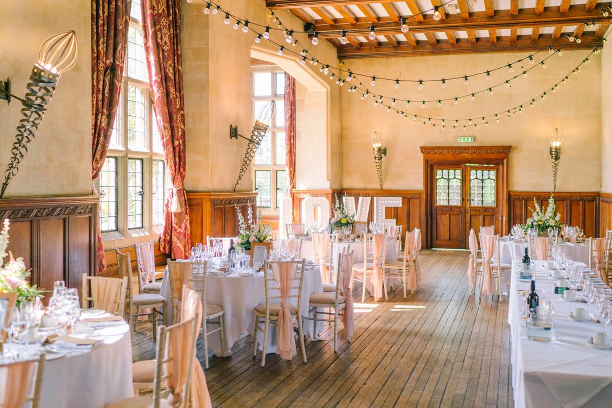 Fanhams Hall ballroom