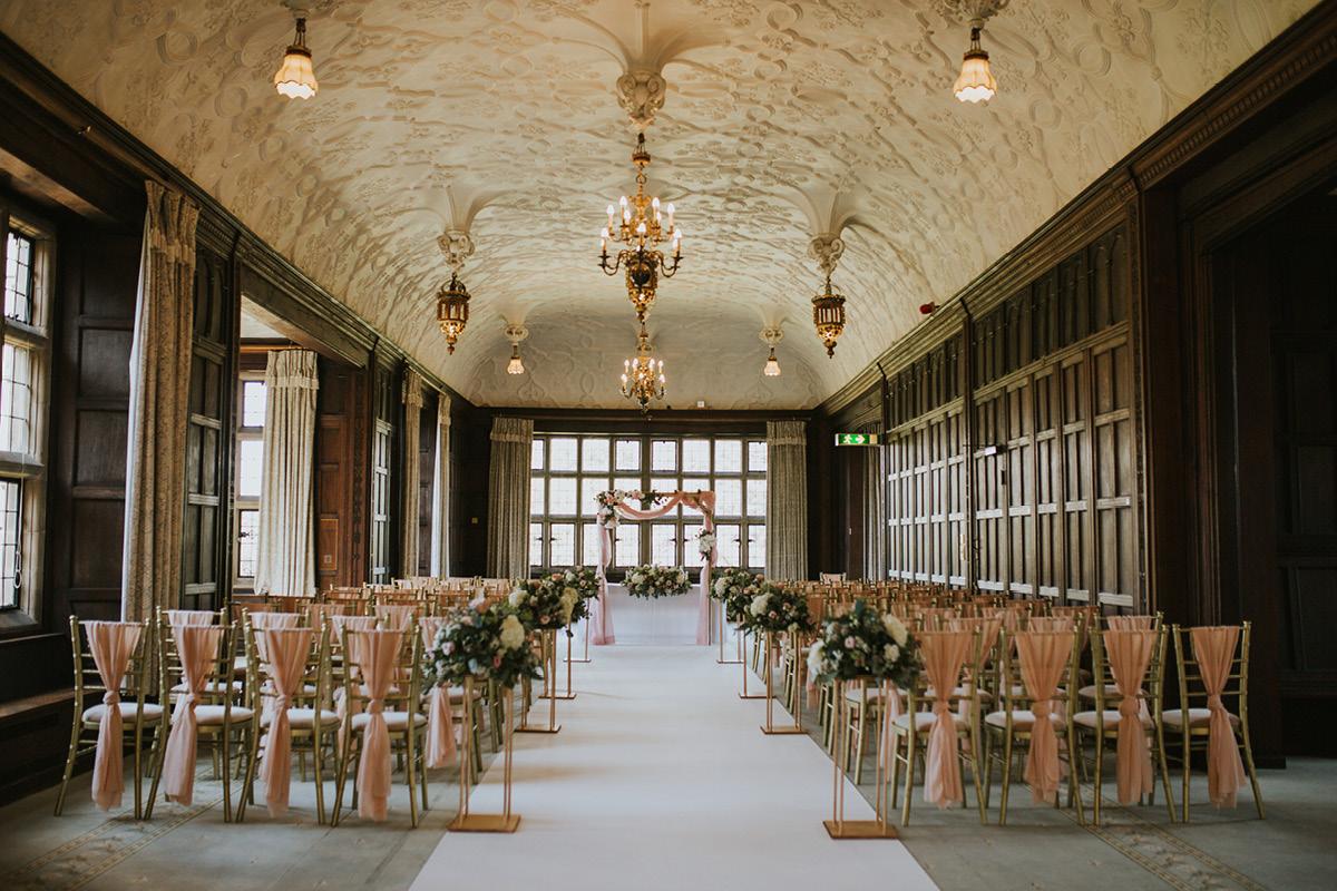 Fanhams Hall indoor ceremony