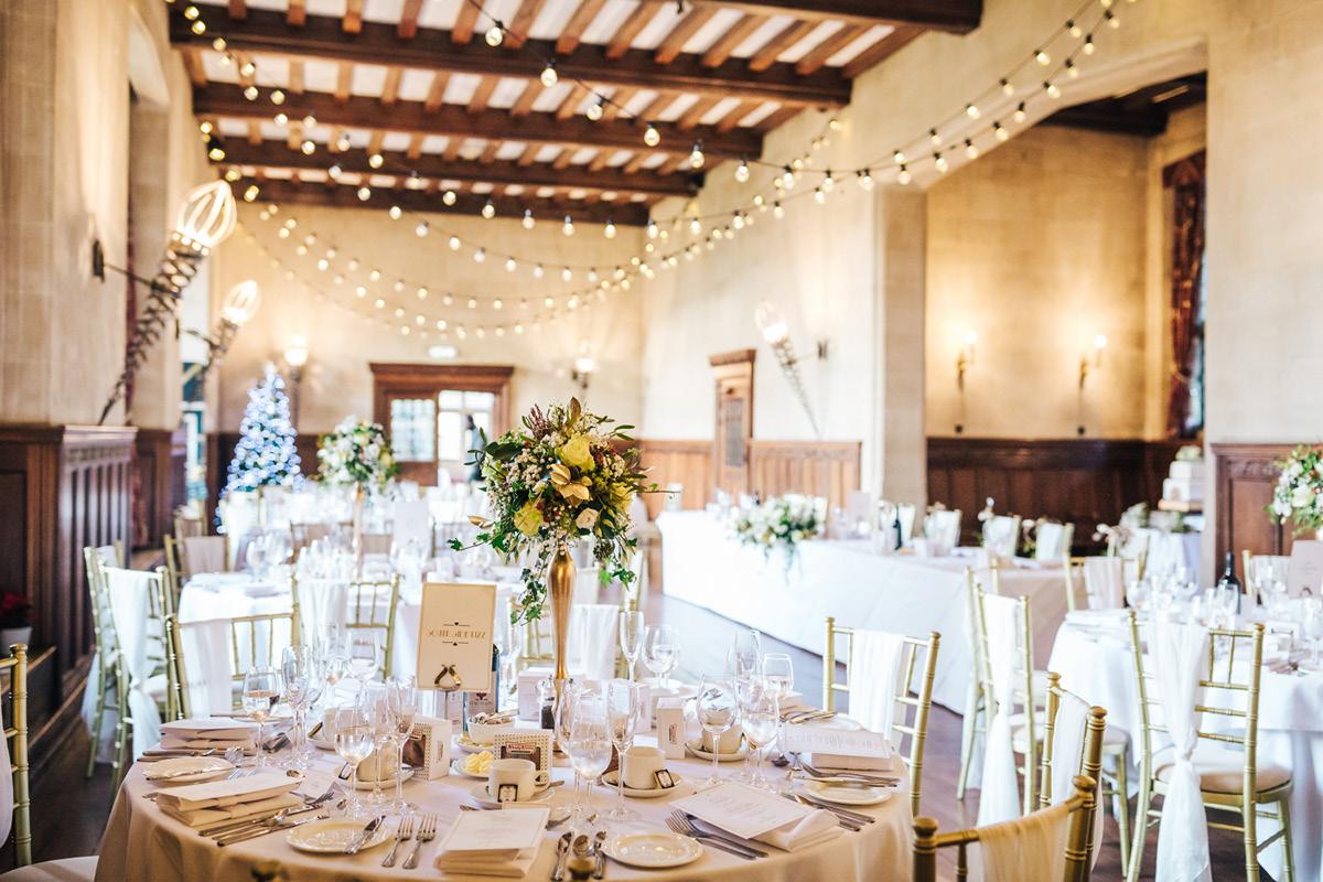 Fanhams Hall table setting