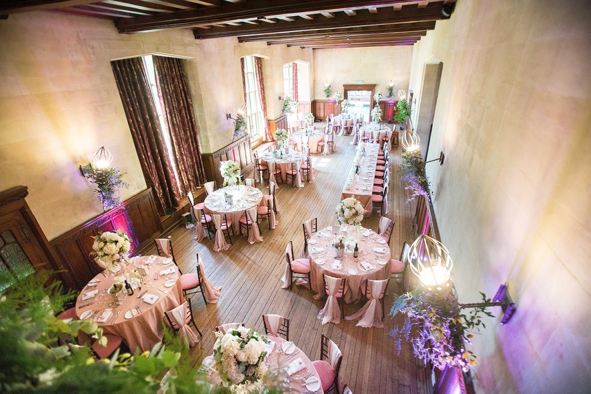 Fanhams Hall wedding breakfast