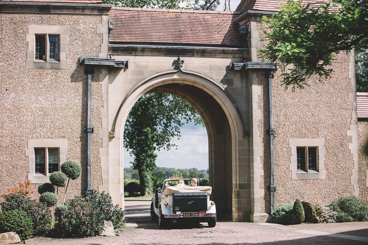 Fanhams Hall wedding car
