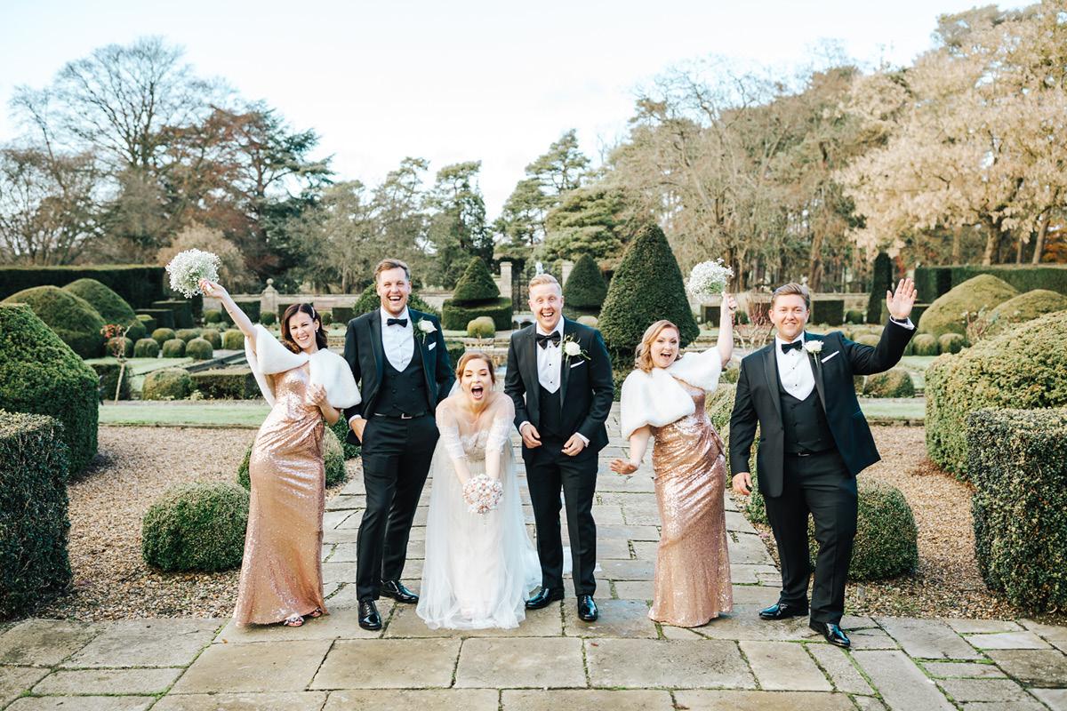 Fanhams Hall winter wedding