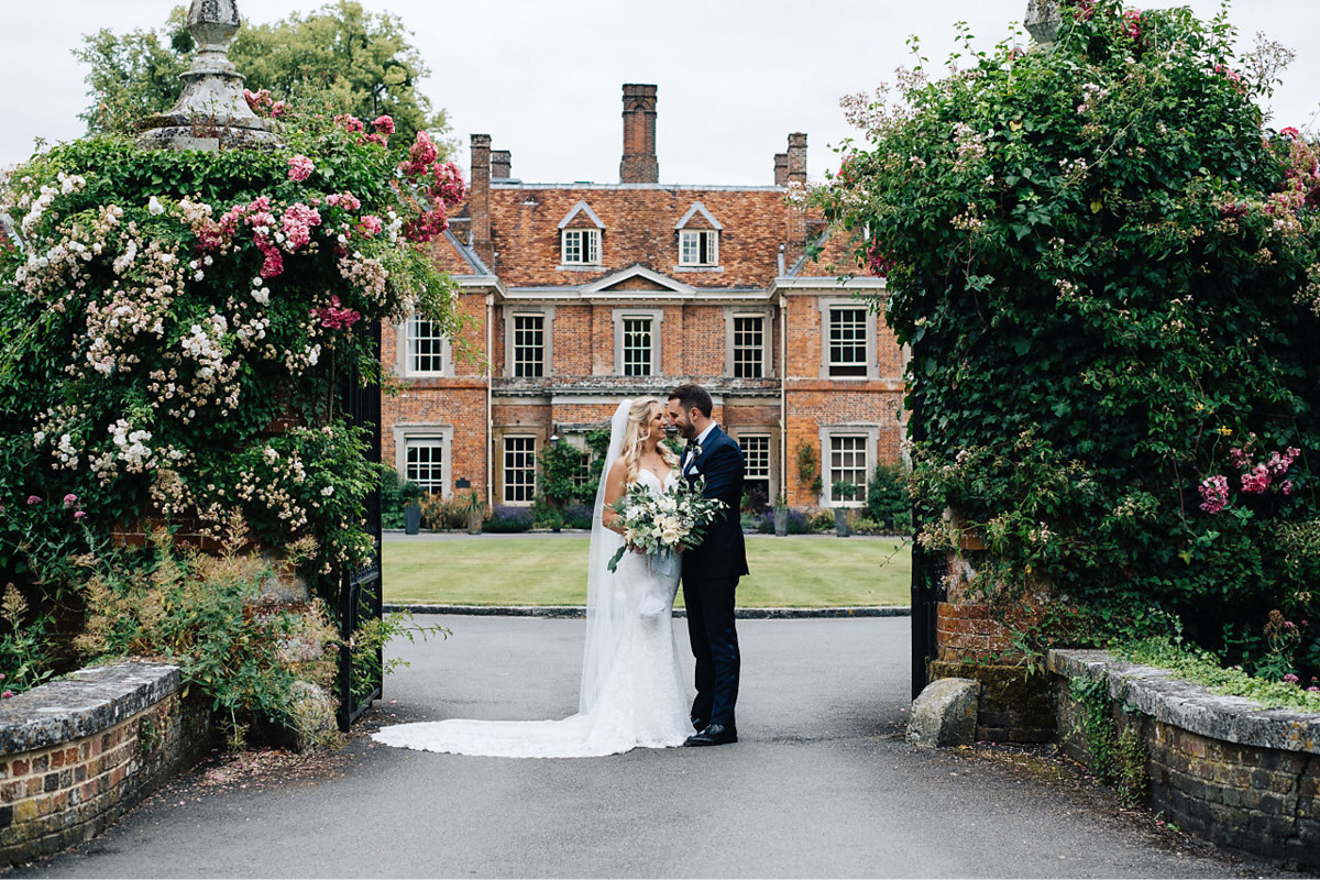 exclusive use wedding venues Lainston House wedding couple