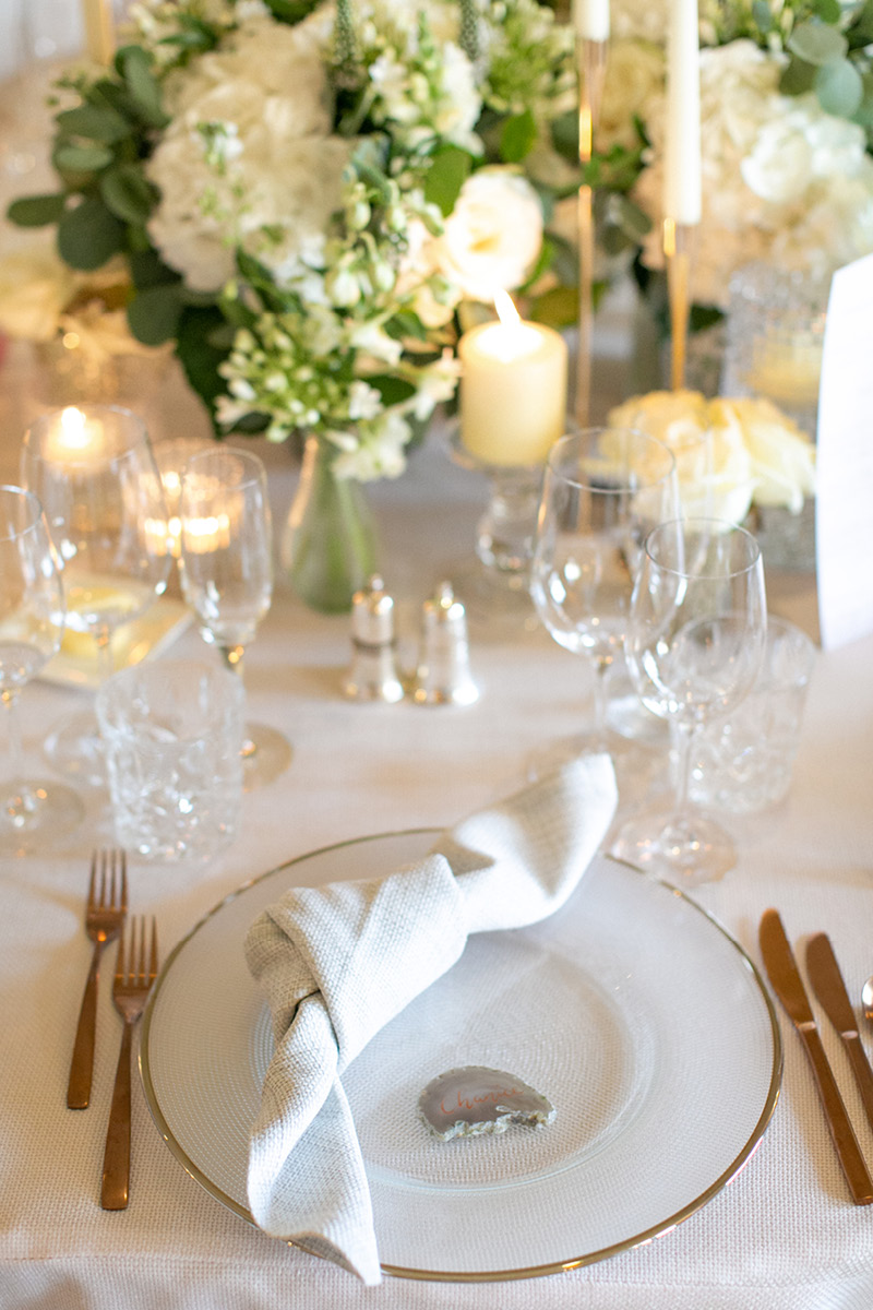 Pennyhill Park place setting
