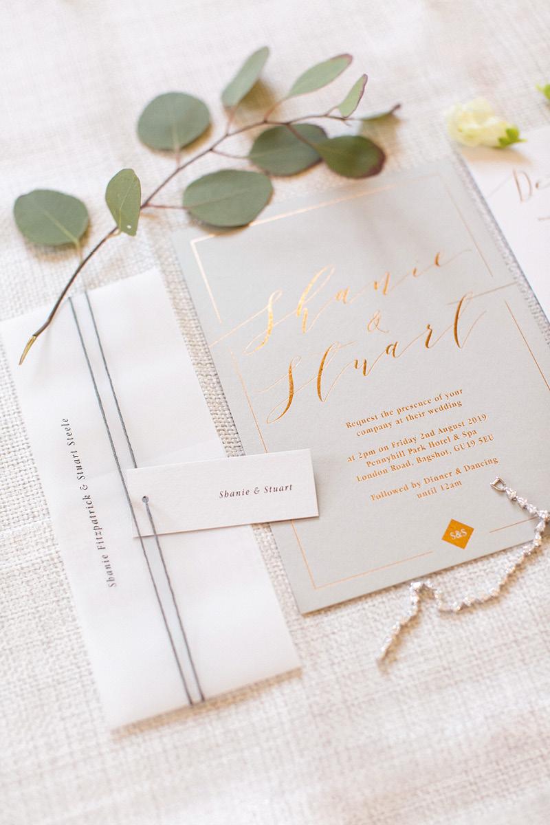 Pennyhill Park wedding invite