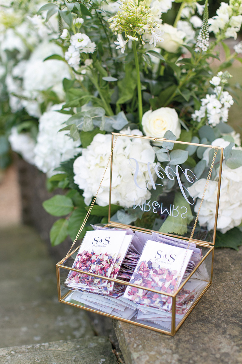 Pennyhill Park wedding cards