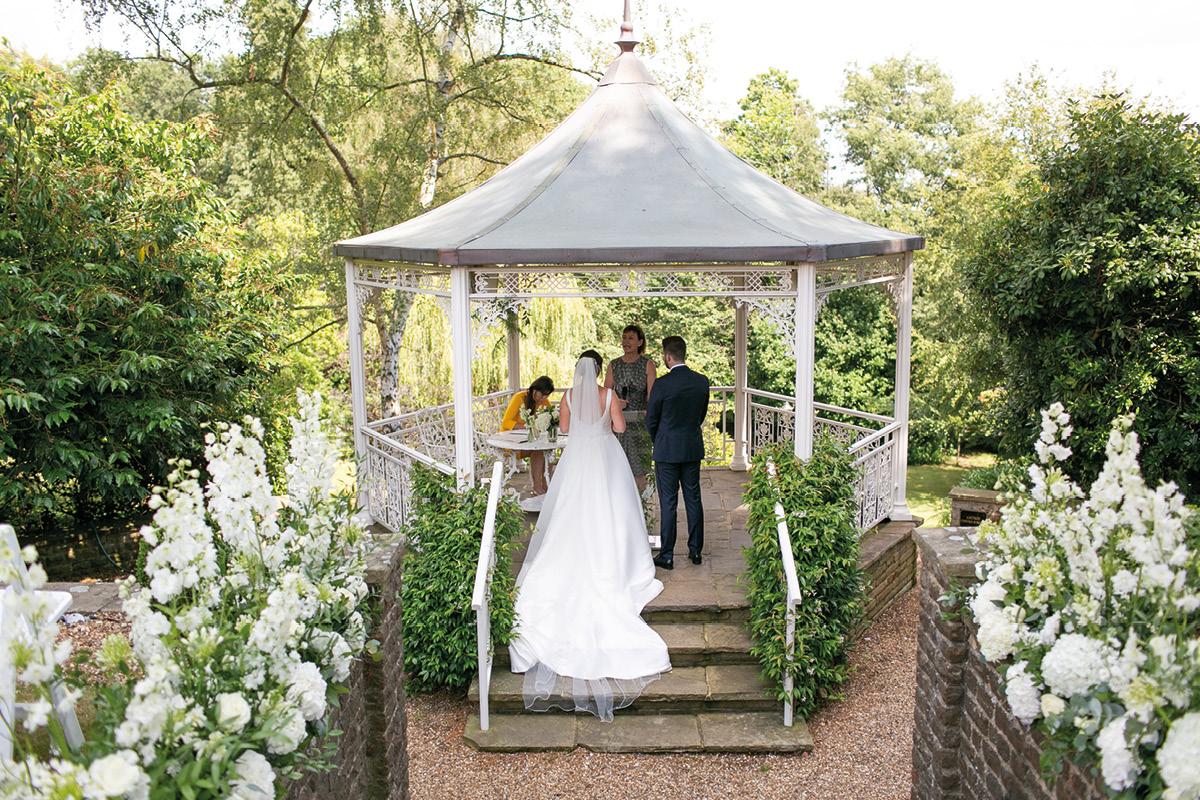 Pennyhill Park wedding ceremony