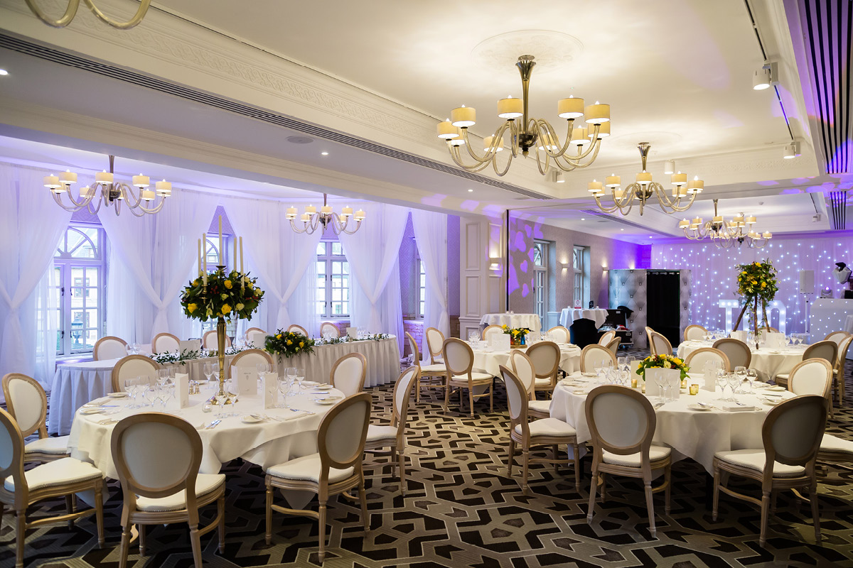 Pennyhill Park wedding reception